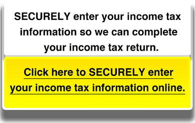 SECURELY enter your income tax information so we can complete your income tax return