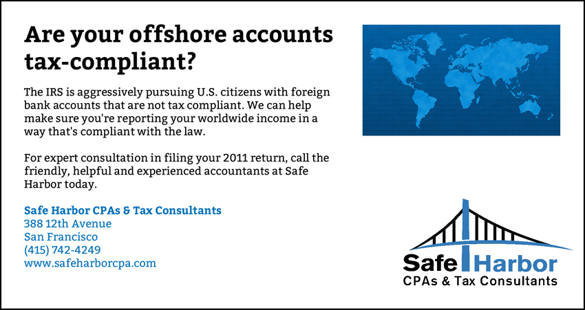 Offshore Tax Issues for Residents of San Francisco, CA