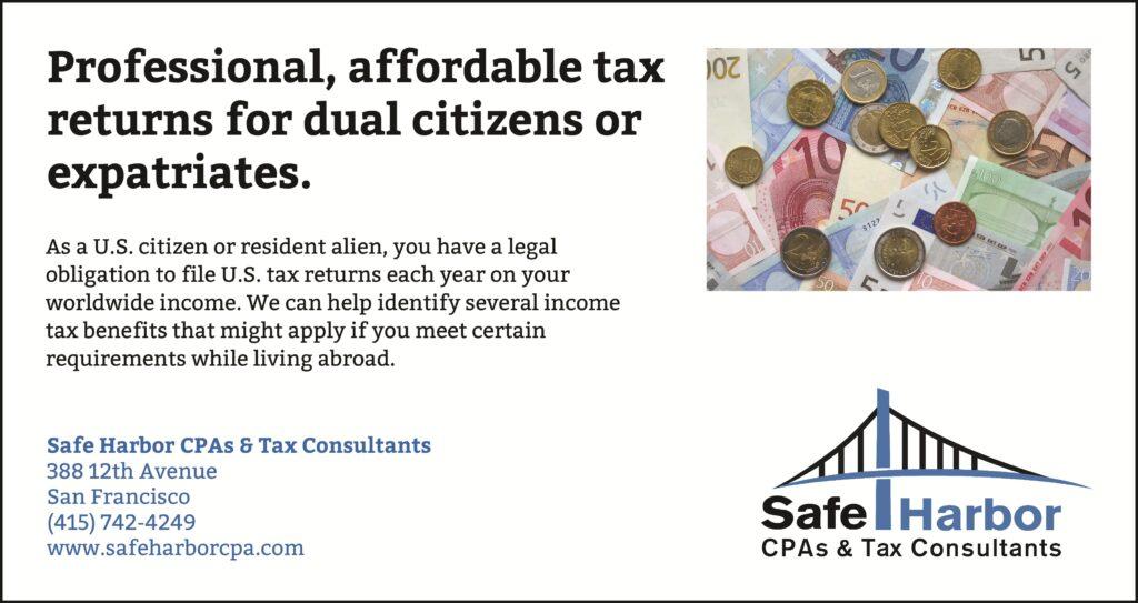 San Francisco Dual Citizens or Expatriate Tax Preparation
