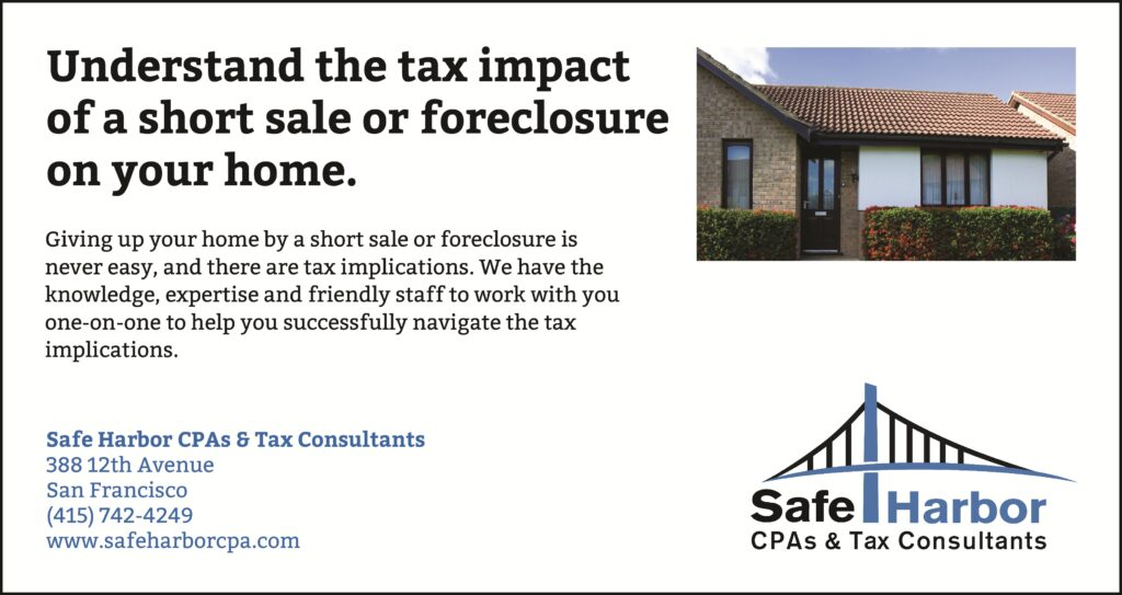 Foreclosure and Short Sale Tax CPA Specialist in San Francisco