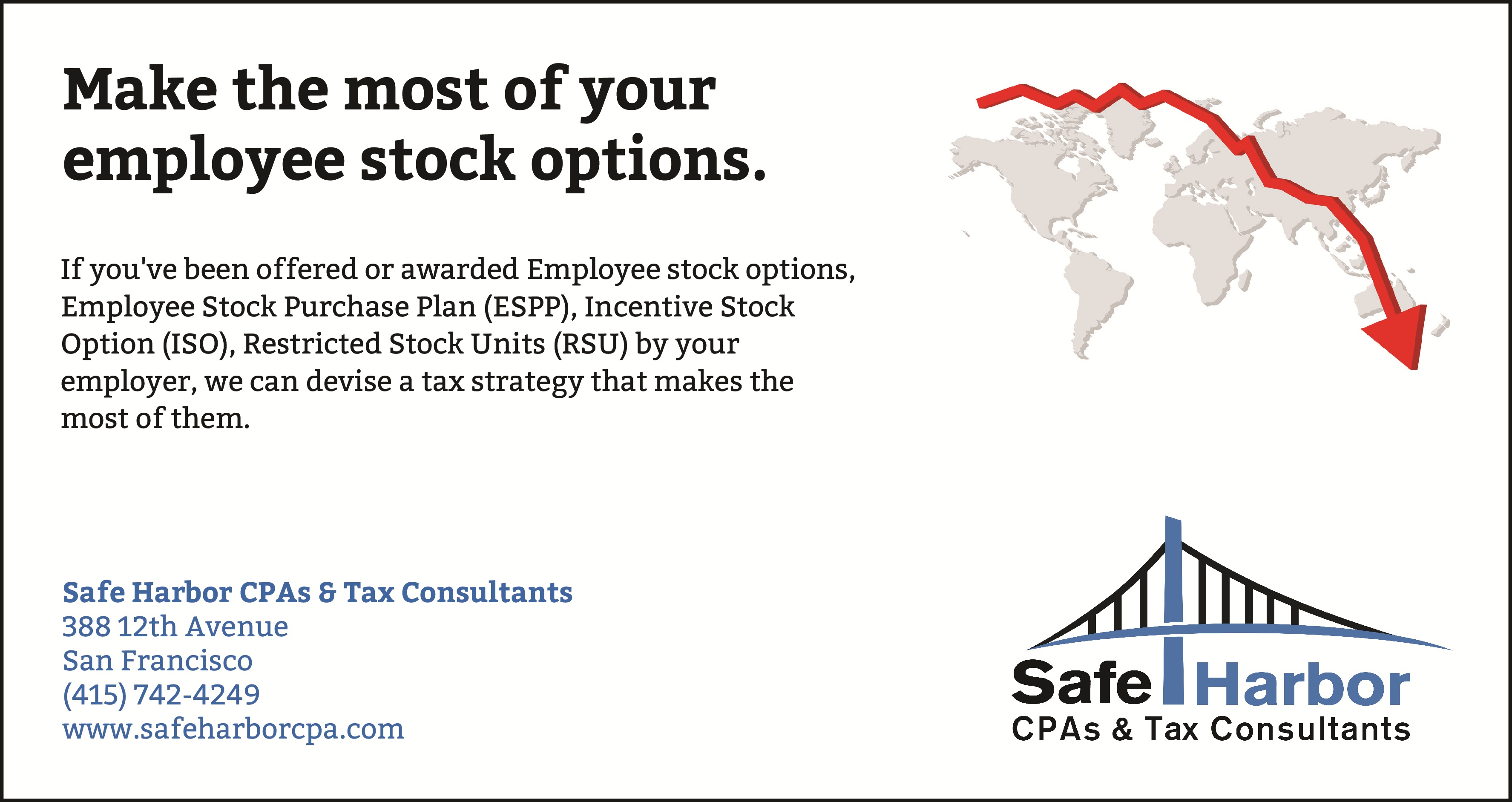 Taxed on stock options