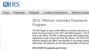 OVDP (Offshore Voluntary Disclosure Program) - FAQ / Questions and Answers